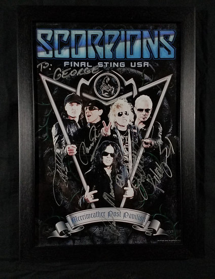 "Scorpions signed ""The Final Sting"" Tour"