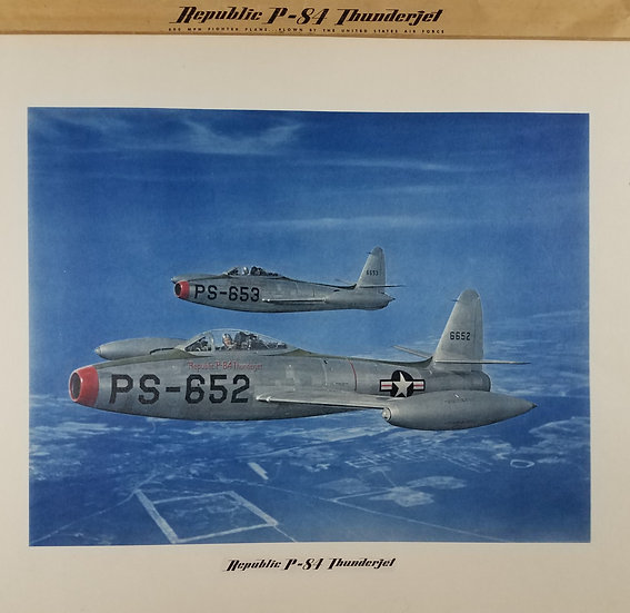 SOLD Republic P – 84 Thunderjet Original Color Print