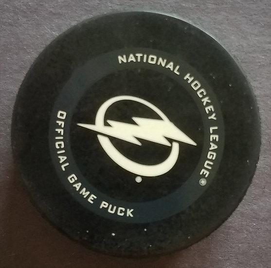 Tampa Bay Lightning NHLOfficial Game Used Puck