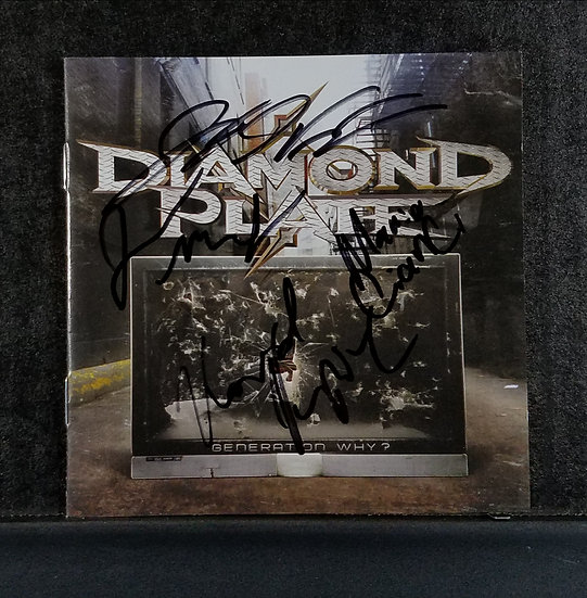 "Diamond Plate signed CD ""Generation Why?"""