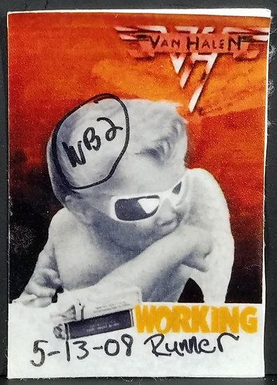 Van Halen 2008 Tour WORKING Pass, Runner, Good cond.