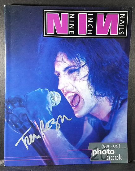 SOLD Signed Nine Inch Nails Tear Out Photo Book by Trent Reznor