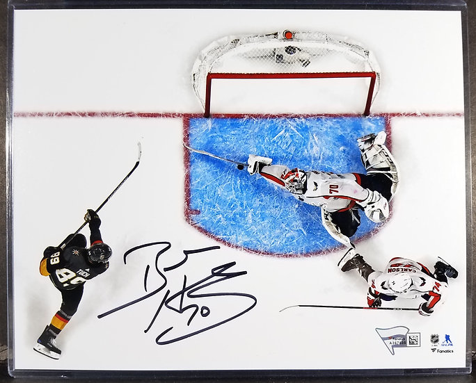 """SOLD Washington Caps signed Braden Holtby """"The Save"""" Photo"""