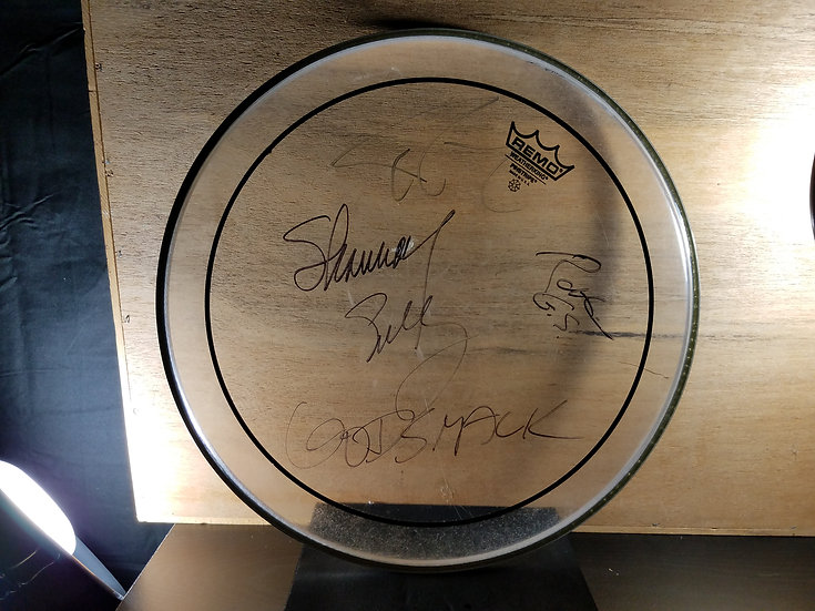 SOLD Godsmack Fully Signed Used Concert Drumhead, 2009