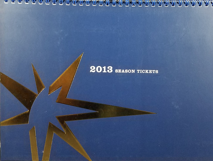 Tampa Bay Rays 2013 Complete/Unused Season Tickets Booklet