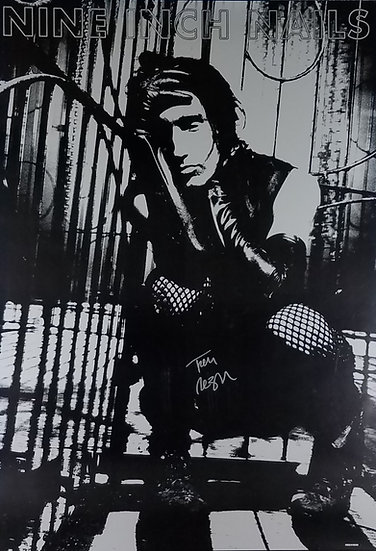 SOLD Inch Nails Import Poster signed by Trent Reznor