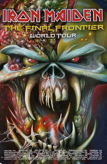 "Iron Maiden Promotional Concert Poster ""Final Frontier"" w/Dates"