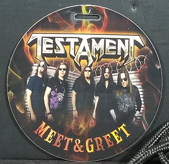 Testament Meet and Greet Pass, Good Cond.