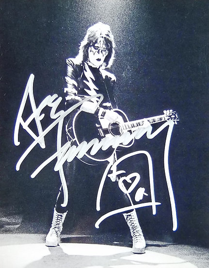 KISS/Ace Frehley autographed reproduction photo