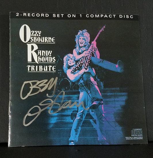 """SOLD Ozzy Osbournesigned CD """"Ozzy Osbourne/Randy Rhoads TRIBUTE"""""""