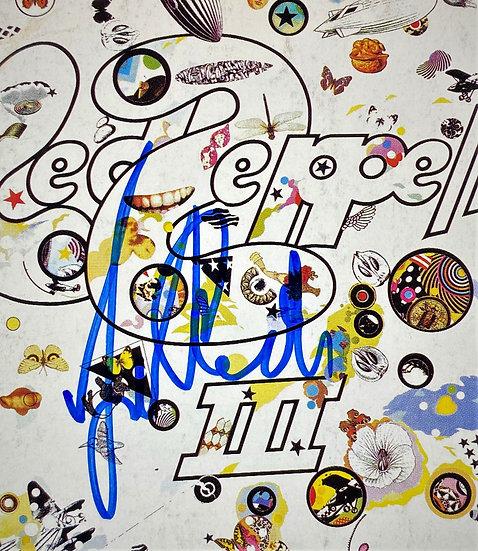 SOLD JSA Authenticated Signed Led Zeppelin III/John Paul Jones