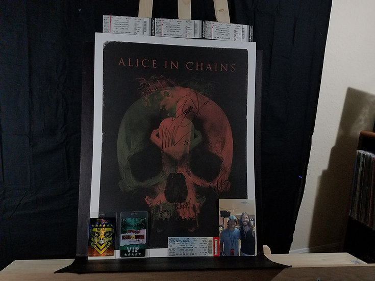 SOLD - Alice In Chains signed Limited Edition Lithograph