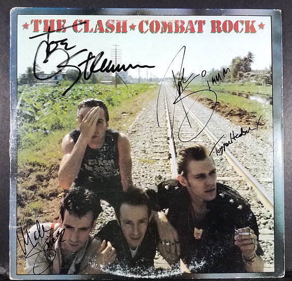 "SOLD The Clash signed ""Combat Rock"" LP"