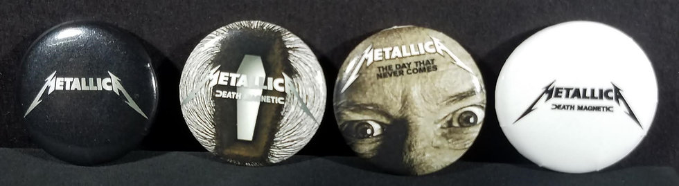 Metallica set of 4 Vintage Pins/Death Magnetic