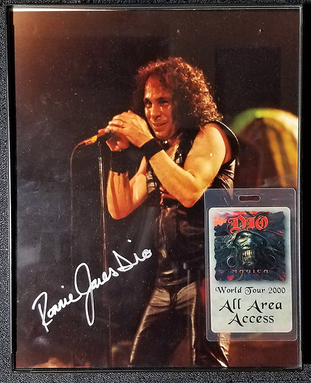 SOLD Ronnie James Dio Signed Photo & Pass