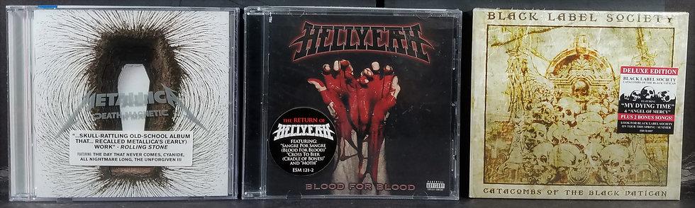 SOLD 3 Hard Rock NEW CDs Metallica, Hellyeah, BLS
