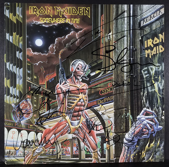 "Iron Maiden signed ""Somewhere In Time"" LP"