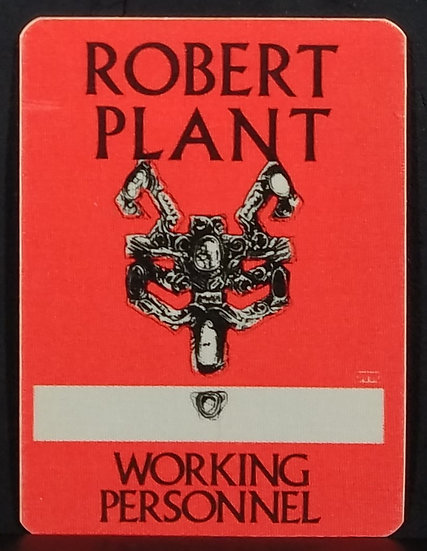 Robert Plant Unused 'Working Personnel' Pass, OTTO backing, Excellent Condition