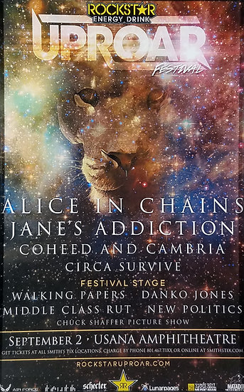 Alice In Chains Uproar Festival Promo Poster, New