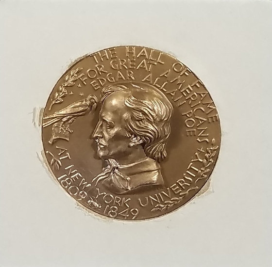"SOLD ""EDGAR ALLAN POE MEMORABILIA LOT"" - coin, stamps, post cards, etc."