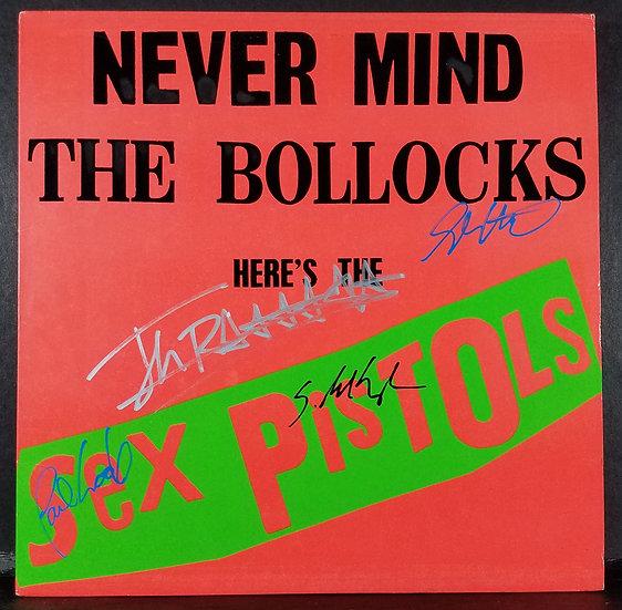 "Sex Pistols signed ""Never Mind The Bullocks"" LP"