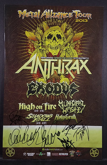 Anthrax Signed Metal Alliance Poster 2013