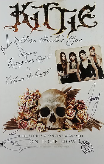 "SOLD Kittie Fully Signed Promo Poster ""I've Failed You"""