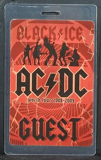 AC/DC 'Black Ice' Tour Backstage Pass 08' - 09' VG Cond.