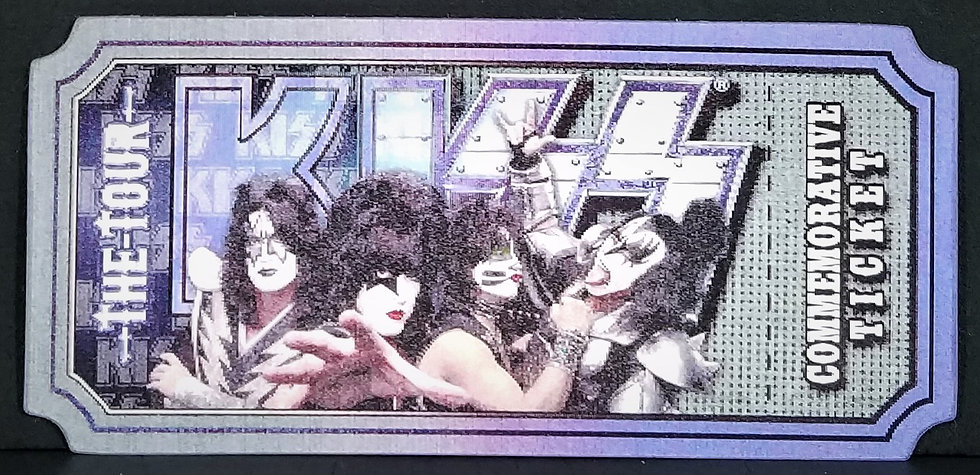 SOLD KISS VIP Commemorative Lenticular Ticket July 20 2012 VA Excellent Cond.