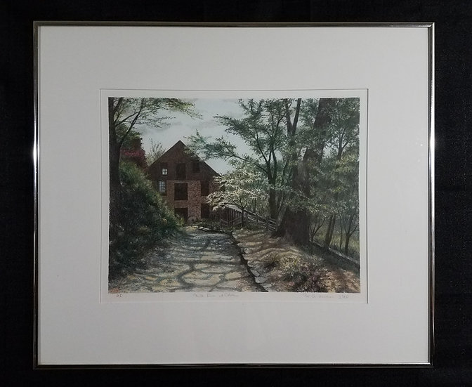 Colvin Run Mill by N, Anderson, signed, Lithograph Print (Great Falls, VA)