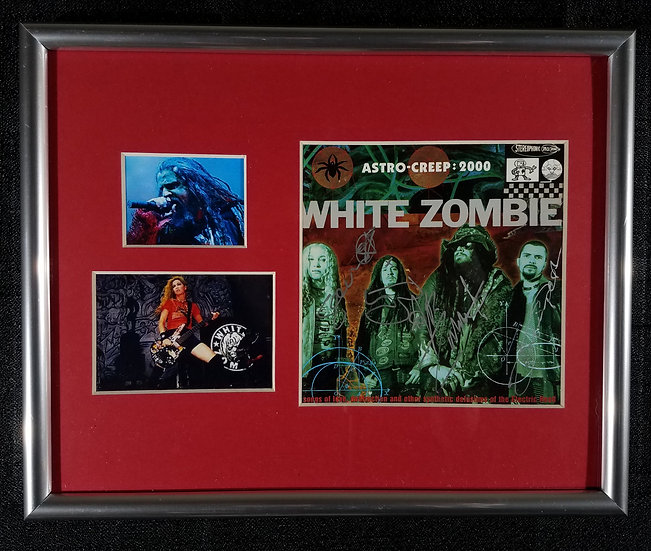 """White Zombie signed """"Astro-Creep 2000"""" CD cover, fully signed"""