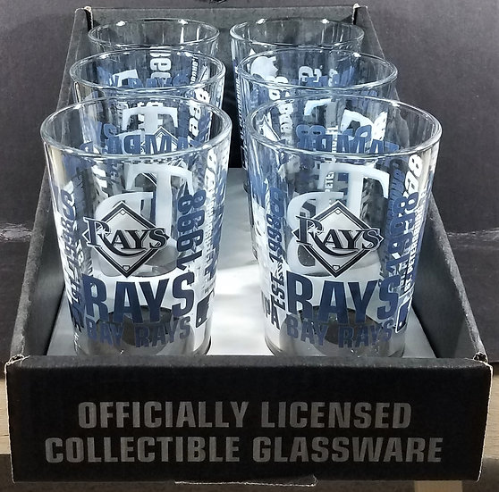 Tampa Bay Rays Pint Glasses, Official MLB Product, Set of 6/ $55.00