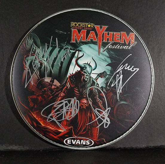 """Slayersigned Collectable Drumhead """"Mayhem Festival 2015"""""""