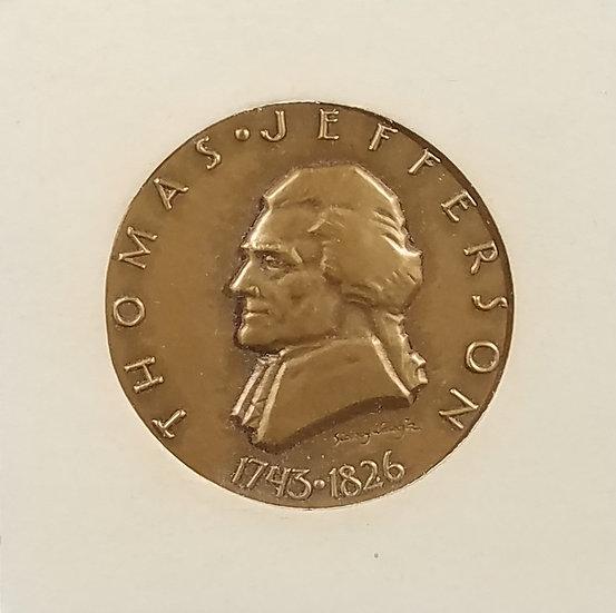 Thomas Jefferson Medallic Art Hall of Fame Medal