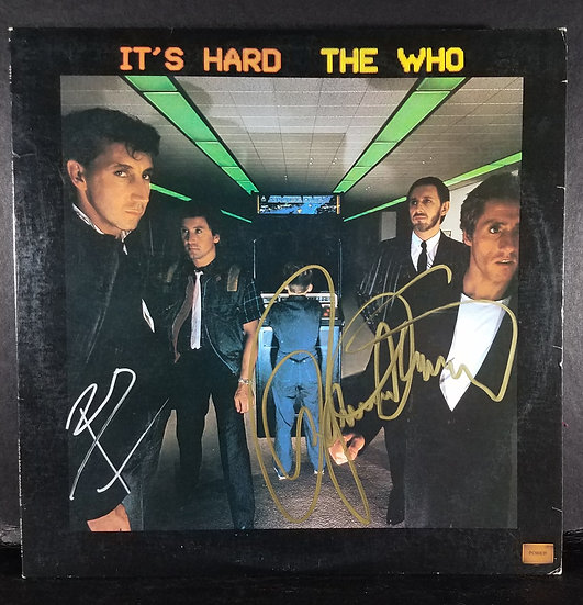 """The Who """"It's Hard,"""" signed LP by Townshend and Daltry"""