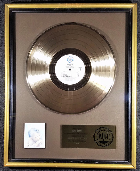 RIAA award for VAN HALEN 1984 that was made by Fitzgerald/Hartley