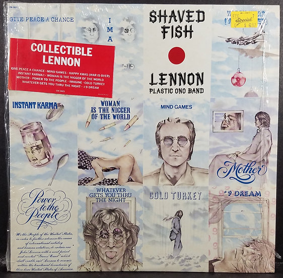 Shaved Fish John Lennon Plastic Ono Band Shrink Wrap Orig  SW-3421 GREAT COND