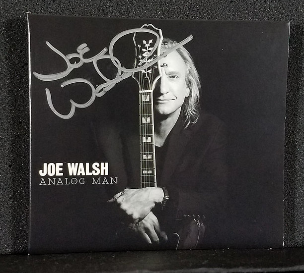 "Joe Walsh signed CD ""Analog Man"""