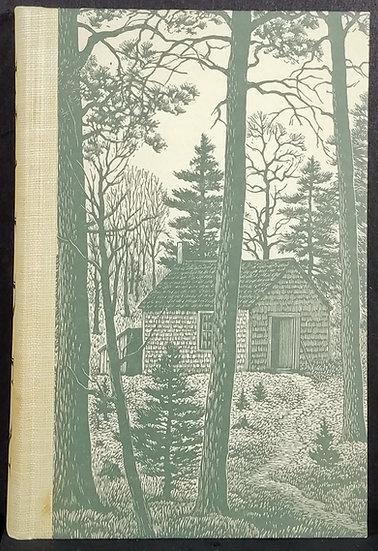 WALDEN Thoreau Engravings Nason Heritage Press 1939 VG+++