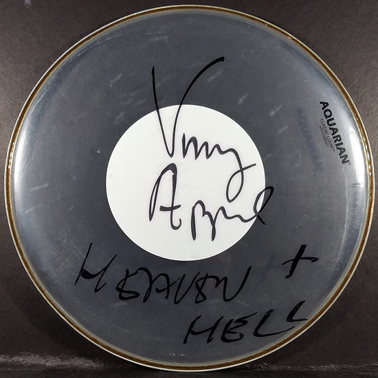 Black Sabbath/Heaven & Hell Signed & Used Concert Drumhead by Vinny Appice