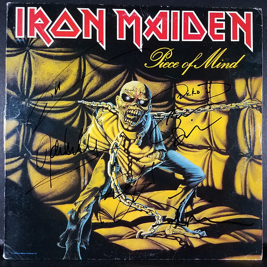 "Iron Maiden signed ""Peace Of Mind"" LP"
