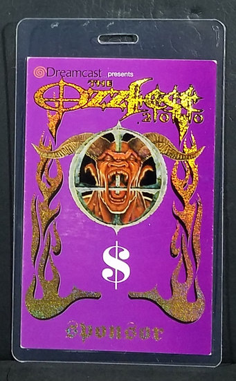 "OZZFEST 2000 Backstage PassLaminate""SPONSOR"" PanteraStatic X NICE!"