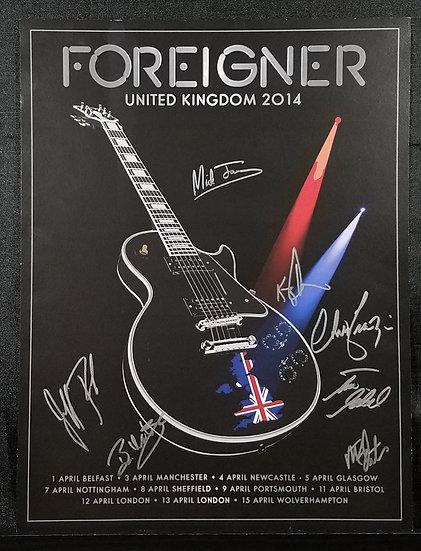 Foreigner 2014 SignedPoster/Set List (6/20/2014)