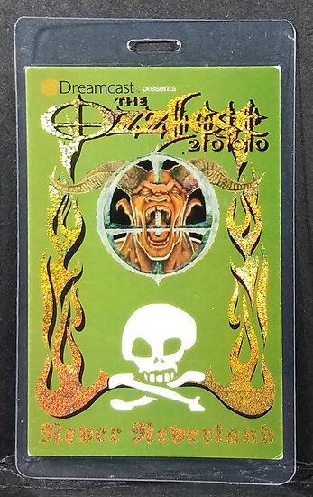 """Ozzy Osbourne """"Ozzfest 2000"""" sponsor backstage pass"""