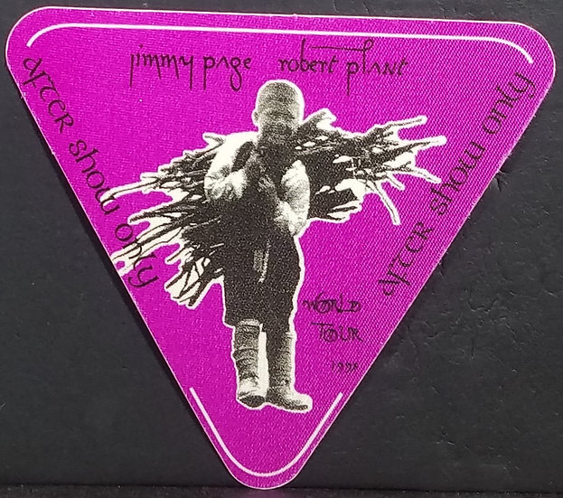 Page/Plant Backstage Pass 93' World Tour Excellent Condition Unused/Otto Backing