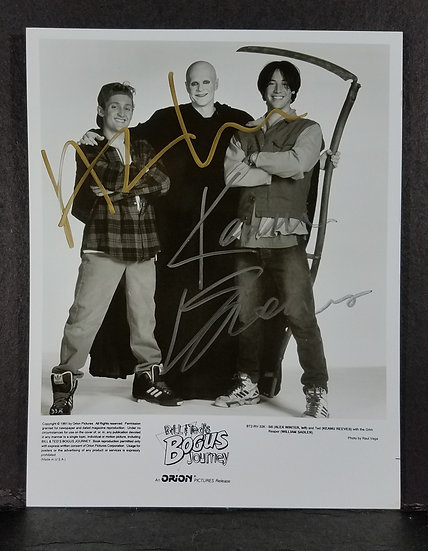 """SOLD Reeves & Winter """"Bill & Ted's Bogus Journey""""– signed by Keanu Reev"""