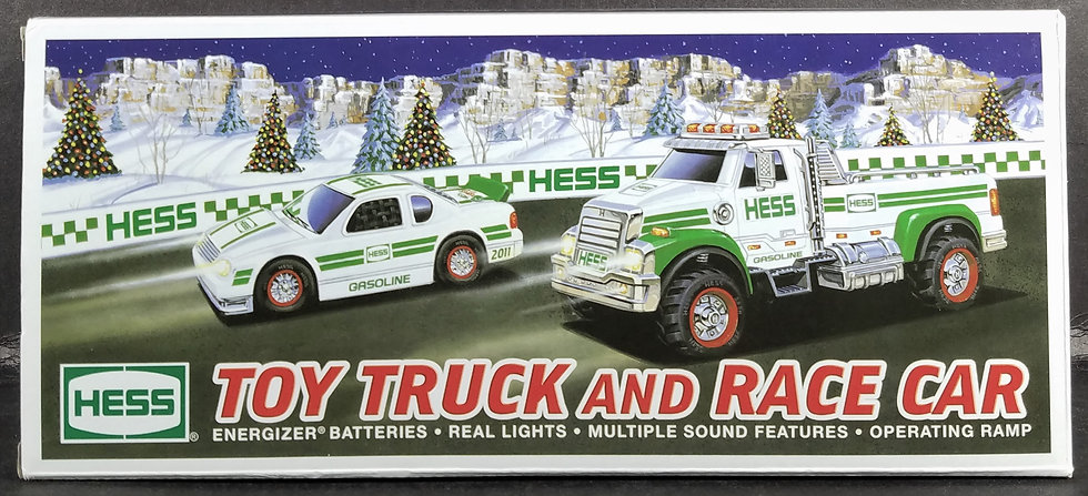 NEW Hess 2011 Toy Truck and Race Car Set