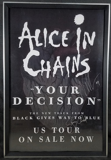 Alice In Chains Signed + Framed Promo Poster Tour 2009