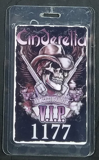 Cinderella VIP Backstage Pass and Cinderella Set of Four VIP Guitar Picks 2012 T