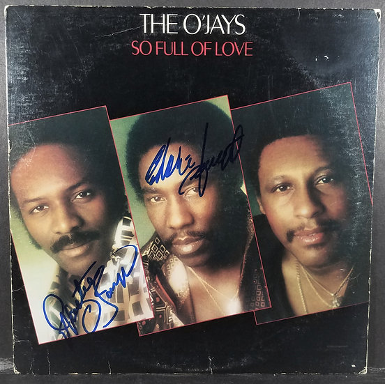 "The O'Jays ""So Full Of Love"" LP Cover, signed by 2"